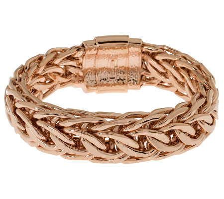Bronze Average Polished Curb Link Bracelet by Bronzo Italia