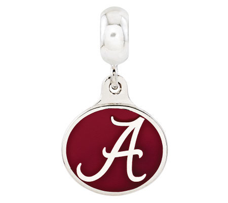 Sterling Silver University of Alabama Dangle Bead