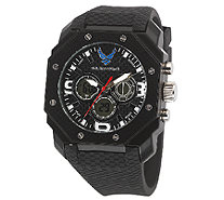 Wrist Armor Men's U.S. Air Force C28 Black & White Watch - J316354