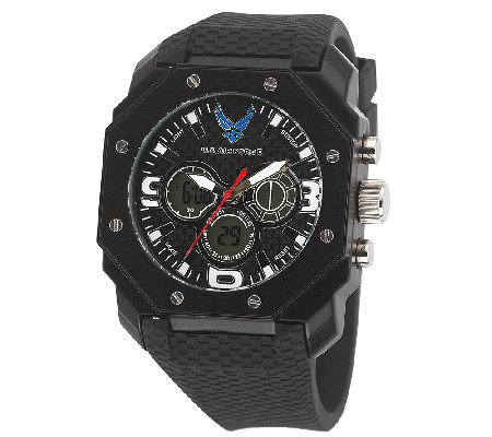 Wrist Armor Men's U.S. Air Force C28 Black & White Watch