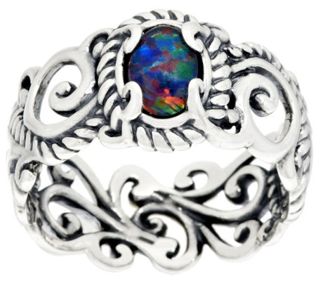 Carolyn Pollack Signature Gemstone Sterling Band Ring