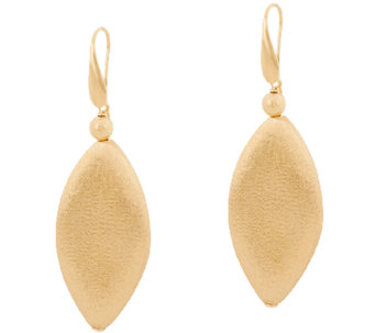 Veronese 18K Clad Satin Finish Marquise Shaped Dangle Earrings - J322754