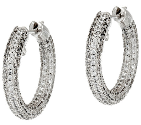 The Elizabeth Taylor Pave Hoop Earrings