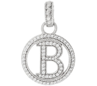 Judith Ripka Sterling Diamonique Initial Enhancer - J325454