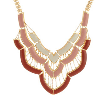 "C. Wonder 16"" Layered Enamel Bib Statement Necklace - J329254"