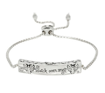 Extraordinary Life Sterling Motif Adjustable Bracelet - J329454