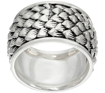 JAI Sterling India Collection Feather Texture Band Ring - J331254