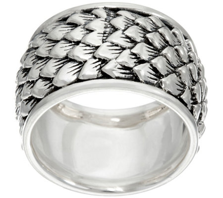 JAI Sterling India Collection Feather Texture Band Ring