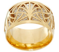 Dieci Diamond Cut Two-Tone Ring, 10K Gold