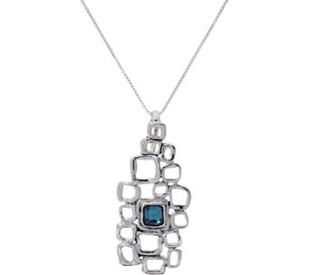 "Hagit Sterling Silver Blue Topaz Nano Bible 18"" Necklace - J333954"