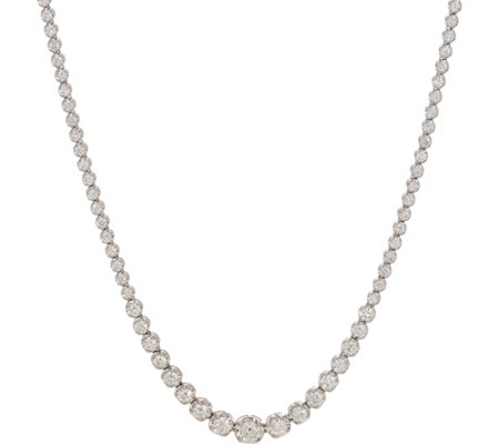 "White Diamond 20"" Tennis Necklace, 14K 5.00 cttw by Affinity"