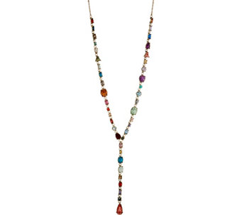 LOGO Links Multi Stone Rosary Necklace - J350454