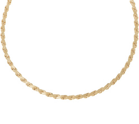 "14K Gold 19"" Stampato Criss-Cross Necklace"