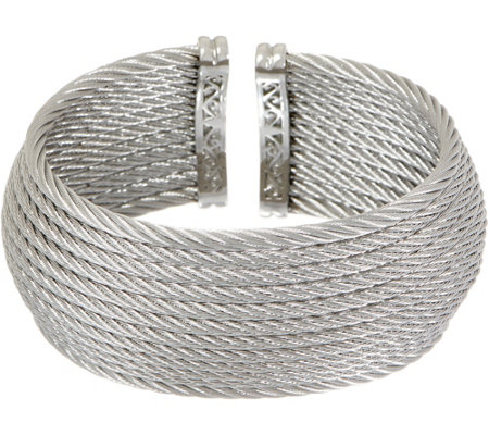 ALOR Cable Stainless Steel 12-Row Wide Cuff