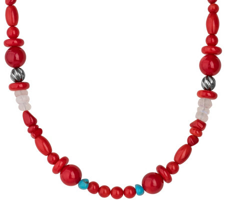 "Carolyn Pollack 21"" Sterling Beaded Possibilities Necklace"