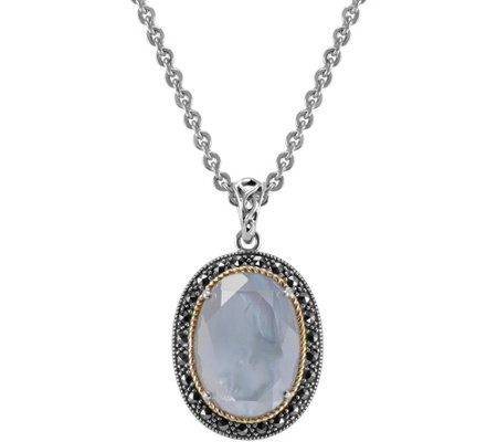 Suspicion Sterling Mother-of-Pearl Doublet Pendant w/Chain