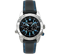 Tourneau Men's Stainless Black and Blue Sport Watch - J380654