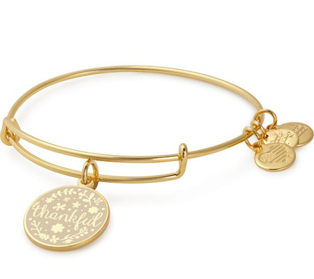 Alex and Ani Thankful Charm Bangle