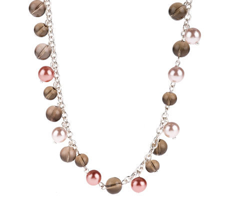 "Joan Rivers Simulated Pearl & Bead 48"" Necklace w/3"" Extender"