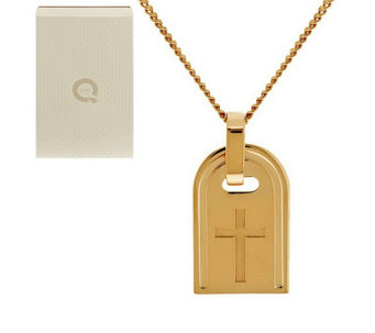 """As Is"" Bronzo Italia Yellow Bronze Symbol Tag Necklace - J296155"