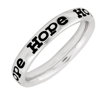 "Simply Stacks Sterling Enamel ""Hope"" BandRing - J299155"
