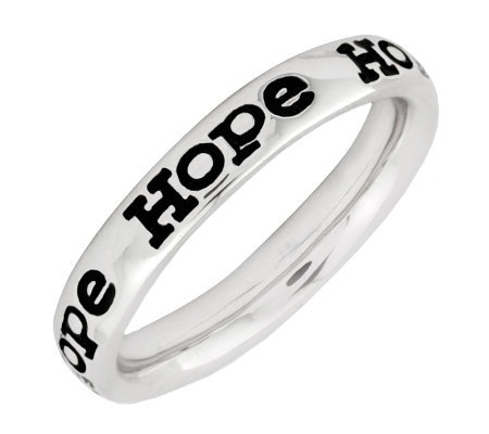 "Simply Stacks Sterling Enamel ""Hope"" BandRing"