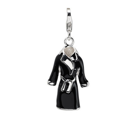 Amore La Vita Sterling Dimensional Black RobeCharm
