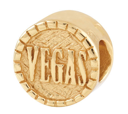 Prerogatives Gold-Plated Sterling 2-Sided VegasBead