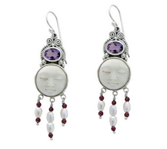 "Novica Artisan Crafted Sterling ""Moon Enchantment"" Earrings - J304055"