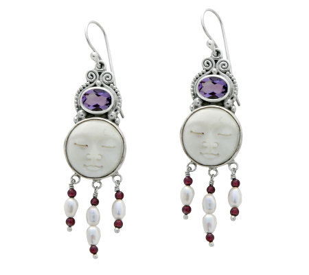 "Novica Artisan Crafted Sterling ""Moon Enchantment"" Earrings"