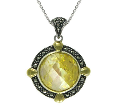 Suspicion Sterling Simulated Canary Diamond Pendant w/Chain