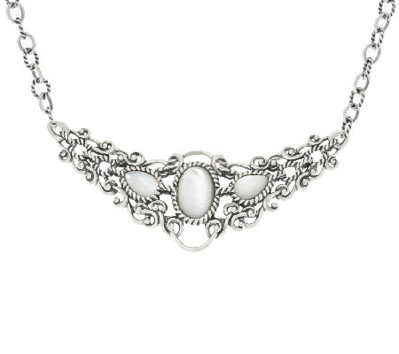 Carolyn Pollack Sterling Silver Reversible Mother-of-Pearl Necklace