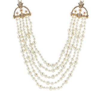 "Joan Rivers Estate Style Simulated Pearl 23"" Necklace w/ 3"" Extender - J321555"
