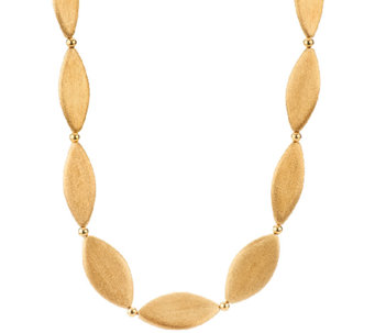 "Veronese 18K Clad Satin Finish 30"" Marquise Necklace - J322755"