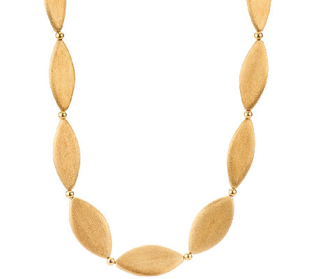 "Veronese 18K Clad Satin Finish 30"" Marquise Necklace"