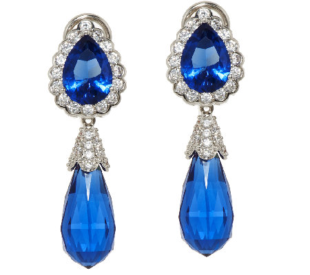 The Elizabeth Taylor Simulated Sapphire Drop Earrings