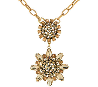 "LOGO Links by Lori Goldstein 20"" Chain Link Flower Pendant Necklace - J324155"