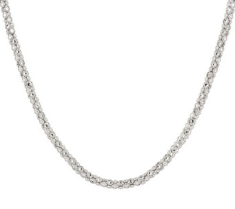 """As Is"" Silver Style Diamond Cut 24"" Sterling Silver Necklace - J325755"