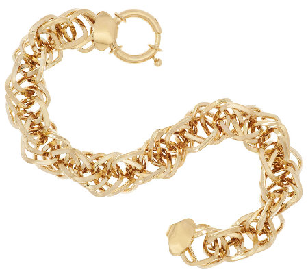 """As Is"" 14K Gold 7-1/4"" Interlocking Dimensional Bracelet, 9.0g"