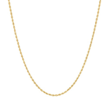 """As Is"" 14K Gold 18"" Rope Chain Necklace, 1.7g"