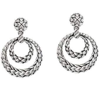 JAI Sterling India Collection Front Facing Hoop Earrings - J331255