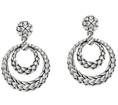 JAI Sterling India Collection Front Facing Hoop Earrings