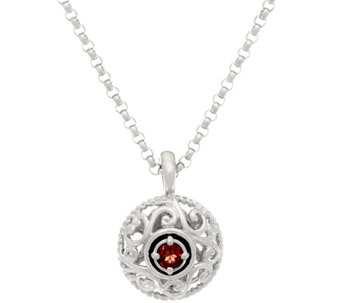 Carolyn Pollack Sterling Silver Birthstone Pendant with Chain - J333855