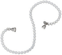 """As Is"" Diamonique 4.50 cttw Tennis Bracelet Sterl. Magnetic Clasp - J335555"