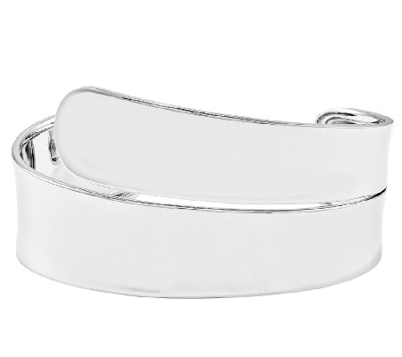 Sterling Polished Wrap Cuff