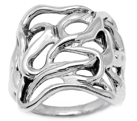 Hagit Sterling Silver Ribbon Ring