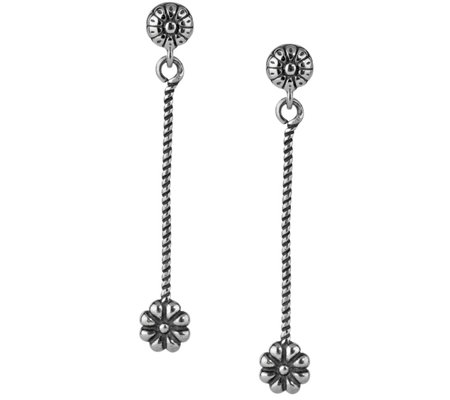 American West Sterling Floral Linear Earrings