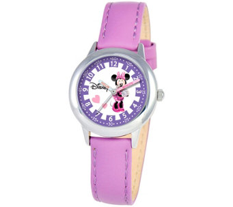 Disney Minnie Mouse Girls' Stainless Steel Watch - J342255