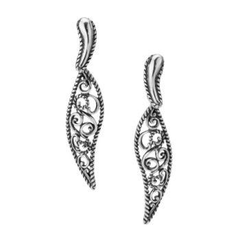 Carolyn Pollack Filigree Drop Earrings