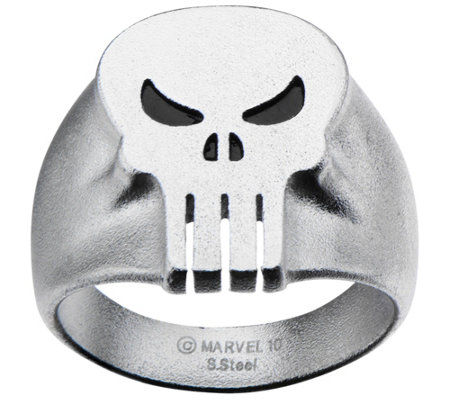 Marvel Stainless Steel Punisher Skull Ring